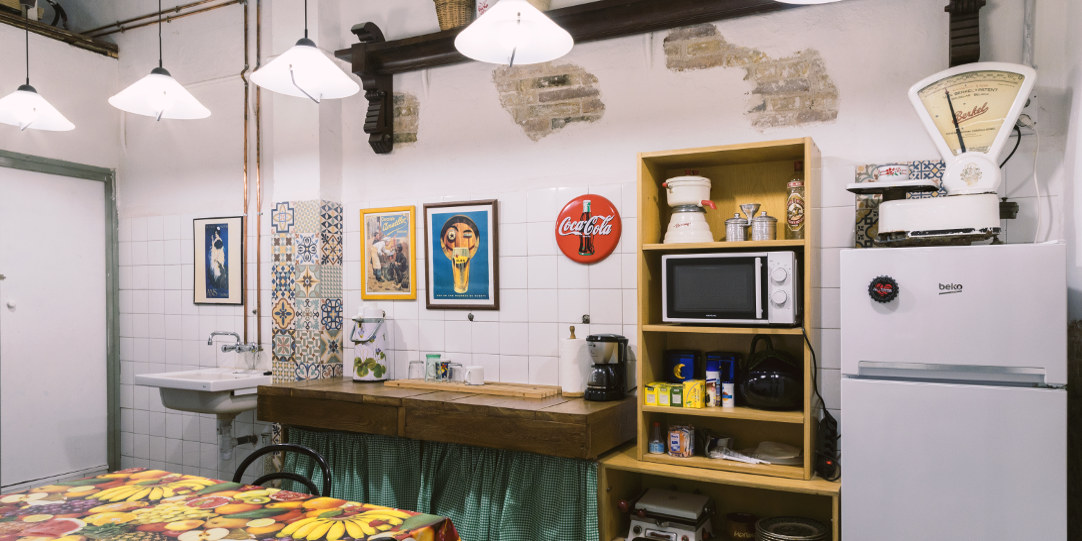 Coworking cocina office