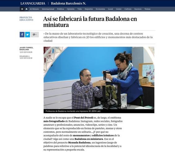 Menuda Badalona en La Vanguardia