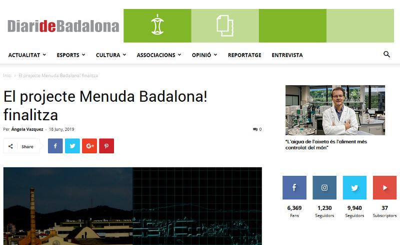 Menuda Badalona en el Diari de Badalona